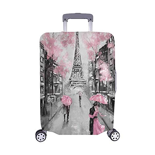 "InterestPrint France Paris Eiffel Tower Travel Luggage Cover Suitcase Protector Fits 22""-25"" Luggage"