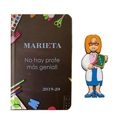 USB Maestra 16Gb, con libreta Personalizada con el Texto Que Quieras. Regalo Original para Profesora