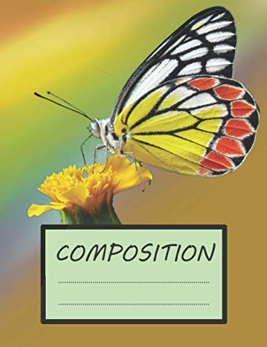 Composition: Notebook Wide Ruled Paper, 7.44 x 9.69 Inches, 100