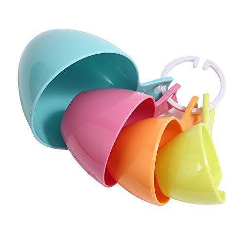 KongLyle - Juego de 4 cucharas medidoras de plástico para medir el horno
