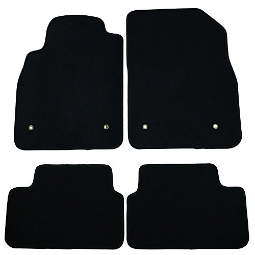 Floor Mats Compatible With 08-16 Chevrolet Cruze | Black Nylon Flooring Protection Interior Carpets by IKON MOTORSPORTS | 2009 2010 2011 2012 2013 2014 2015