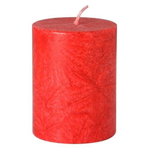 Bütic GmbH durchgefärbte Stumpenkerzen, Stearin-Kerzen in 50mm Durchmesser, Farbe:Rot, Größe:90mm hoch