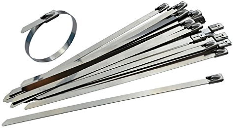 100 Stück Heavy Duty Edelstahl Kabelbinder – 360 360 360 mm x 7,9 mm – hohe Qualität 316 Marine Grade Metall von gocableties B079RF8DPT | Förderung  5d4ff5