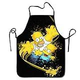 JJKKFG-H Bart Simpson Homer Grembiuli Poliestere Uomo E Donna Grembiule Chef Cucina Pinafore Grande Regalo Per Ragazze E Figlia