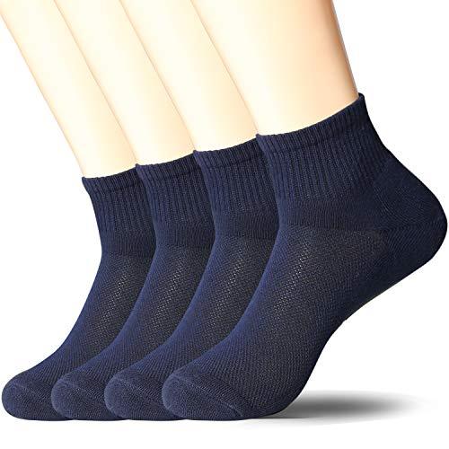 +MD 4 Paar quarter Sportsocken Herren Sneaker Socken Sportsocken für Fitness, Tennis, Joggen, Alltag Navy10-13