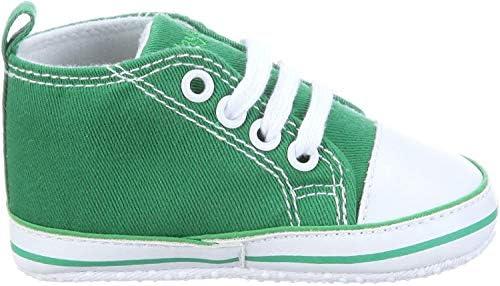 Playshoes Primeros Zapatos, Zapatillas Casual Unisex niños, Verde (Gruen 29), 17 EU