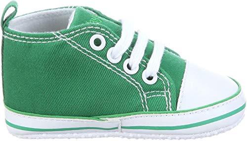 Playshoes Baby Canvas-Turnschuhe, Grün (grün 29) 17