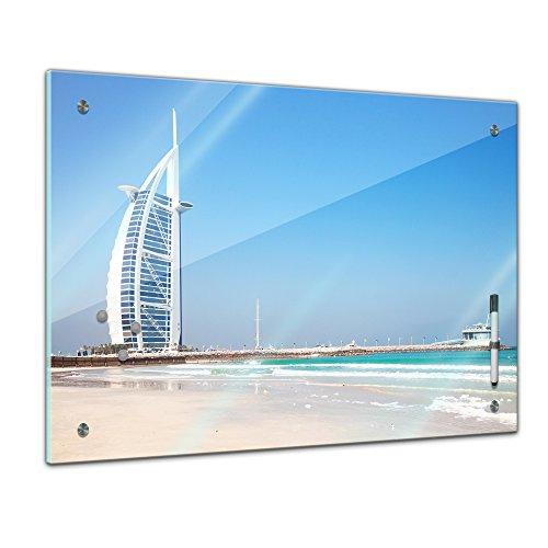 Bilderdepot24 Memoboard 60 x 40 cm, Landschaft - Burj al Arab - Dubai