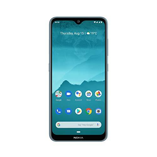 """Nokia 6.2 - Smartphone débloqué 4G - (6,3 pouces - 64Go ROM - 4Go RAM - """"Double SIM"""" - Android One Pie 9.0) Bleu Glacial"""