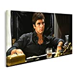 Bild Bilder auf Leinwand Pacino Scarface Kult Film Tony