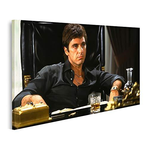 Bild Bilder auf Leinwand Pacino Scarface Kult Film Tony Montana Wandbild Poster Leinwandbild PacinoV2