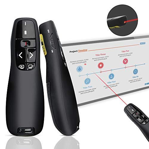 Puntatore Laser per Presentazioni, Doosl Presenter Wireless per Presentazione Powerpoint da 2.4GHZ, Penna Telecomando Senza Fili per Cambio slides Powerpoint