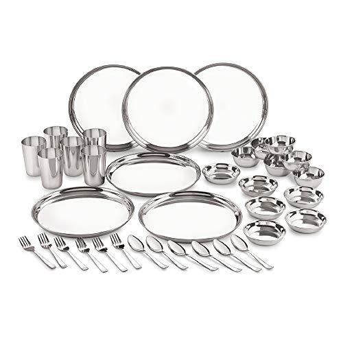 neelam Stainless Steel Dinner Set - 36 Pieces