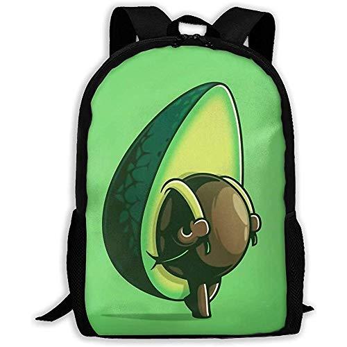 vfrtg Großer Rucksack, Unisex-Schultertaschen, lässiger Rucksack, verstellbare Packung College Unisex Adult Cute Avocado-Laptoptasche, Kinder-Schultasche für Erwachsene, Dayback im Freien, Oxford-Reis