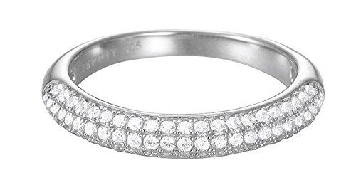 Esprit Essential Damen-Ring ES-GLAM rhodiniert Zirkonia transparent Gr. 51 (16.2) - ESRG02765A160