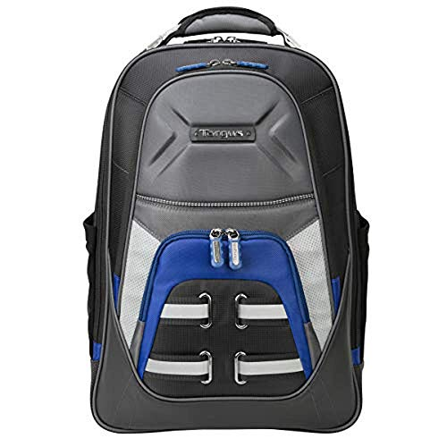 Targus Drifter Quest Durable and Expandable Checkpoint-Friendly Laptop Backpack with Protective Sleeve for 15.6-Inch Laptop, Black/Blue (TSB933US)