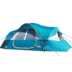 UNP Camping Tent 10-Person-Family Tents, Parties, Music Festival Tent, Big, Easy Up, 5 Large Mesh Windows, Double Layer…