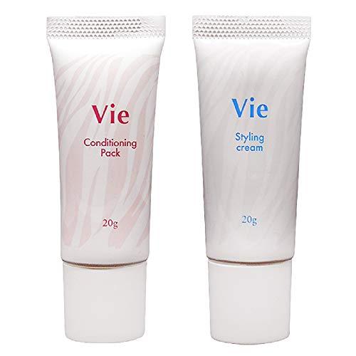 Vie コンディショニングパック 20g + スタイリングクリーム20g セット