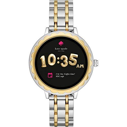 Kate Spade New York touchscreen smartwatch geschulpte tweekleurige (zilver en rosegoud) roestvrijstalen band voor dames KST2007