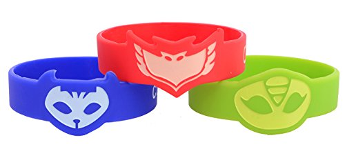 PJ Mask Themed Wrist Band For Kids Set of 3 Catboy Owlette Gekko Costumes - http://coolthings.us