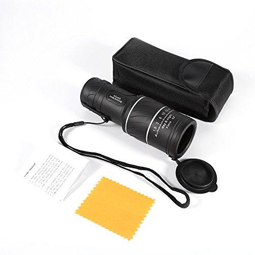Tragbar 40 x 60 HD Monocular Teleskop Nachtsicht Monokular Hochleistung Fernglas für Jagd, Camping, Vogelbeobachtung