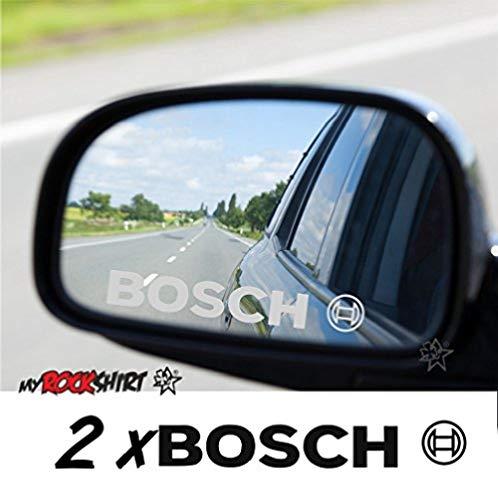 myrockshirt Kompatibler Aufkleber für Bosch 2 x Aufkleber aus Milchglasfolie Frost Gravuroptik Gravur Sticker Aussenspiegel Spiegel,Aufkleber,Autoaufkleber,Tuning,Profi Qualität