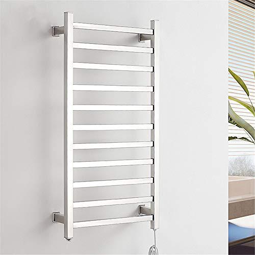 XSGDMN Calentador de Toallas, Acero Inoxidable eléctrico toallero, Toallas eléctrico y Secadora de Ropa, 11 Bar Calentador de Toallas, el Mejor ayudante en el baño,Hard Wire