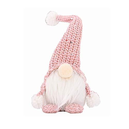 Sayla Weihnachten Puppe Weihnachten Deko Wichtel Handgemachte Wichtel Figuren Weihnachten Deko, Mini Santa Dolls Süße Plüschtier Sitzende Weihnachtswichtel Gesichtslose Dwarf