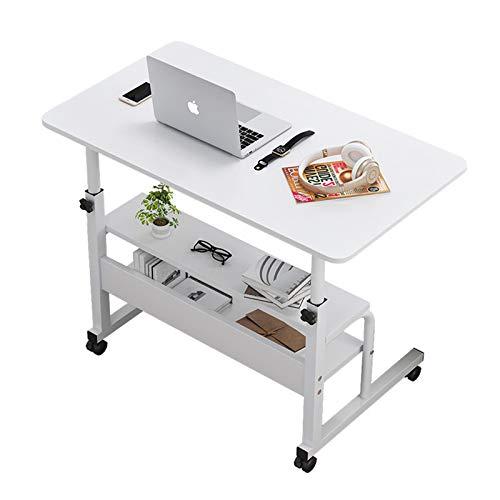 Vassoio regolabile per computer portatile, scrivania per casa, ufficio, scrivania, tavolo da lavoro, tavolo per snack, tavoletta per notebook portatile, carrello mobile da 32 x 16 x 67 cm (A, 82,3 cm)