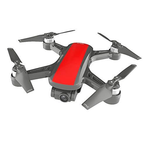 TwoCC Drone con Cámara,C-Fly Dream 4K Hd Gps Wifi Fpv con Cámara 2 Ejes Cardán Flow Óptico Avión Drone Quadcopter(Rojo)
