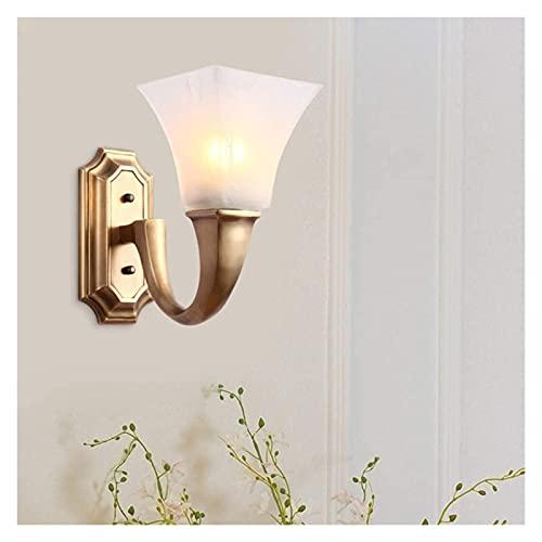 LATOO Lámpara de pared American Minimalist Lámpara de pared Cobre Mármol Pantalla de la lámpara de noche Espejo faro iluminación 3-5 dormitorio cuadrado Sala de estar estudio Showroom