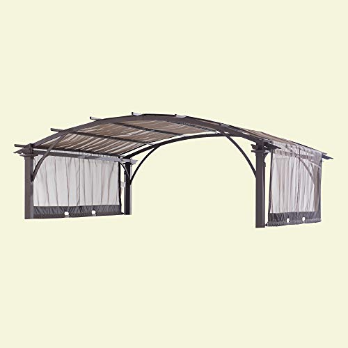 Sunjoy 110109018 Original Replacement Canopy for Verano Pergola (10X10 Ft) L-PG108PST-B Sold at BigLots, Light Brown