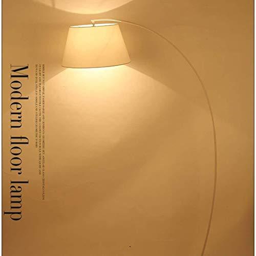 CLJ-LJ Conducido Dormitorio Lámparas de pie, Pesca Sala de estar enciende simple lámpara moderna nórdica la lámpara creativa Eye-Cuidado Vertical luz del piso, Negro (Color : White)