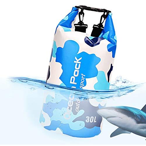 Idefair Bolsa Seca Impermeable, Mochila Seca Flotante Bolsa de Playa Saco seco liviano para la Playa, Paseos en Bote, Pesca, Kayak, natación, Rafting, Camping10L 20L 43L