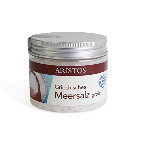 ARISTOS grobes Meersalz für Salzmühle aus Griechenland | 200 g (Meersalz Natur)