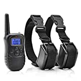 ARB Market 330 Yard Dog Pet Electric Shock Training 2 Collar Waterproof Rechargeable Remote With 100Lvs Shock And Vibration For 2 Dogs Safe, Reliable, Comfortable For All Pet Over 8 Pounds/6 Months