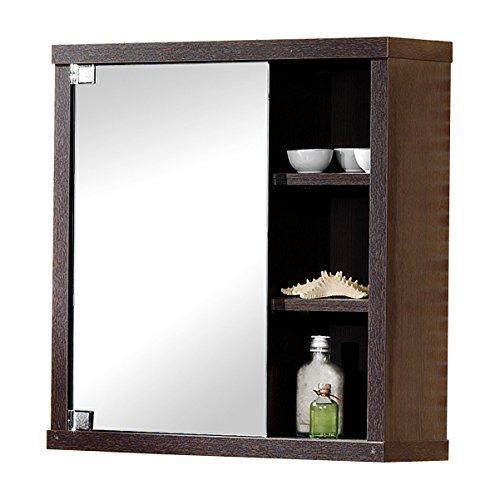 Intradisa, 8910, Armadietto da bagno con 1 anta a specchio laterale, colore: Wengé