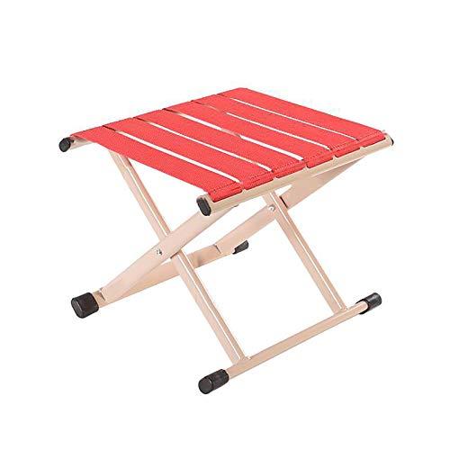 Silla de camping ligera plegable para el hogar, para caminar al aire libre, senderismo, pesca, color rojo