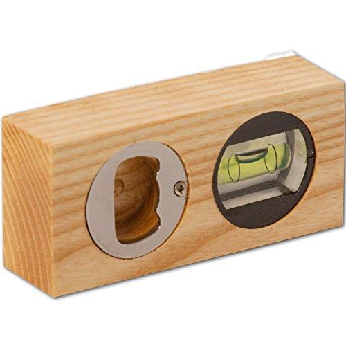 Holz Wasserwaage, 10 cm, 1 Stück, Esche geölt, Holz aus Europa, Richtwaage mit Libelle, genaue Messung, Maurerwaage klein, Wasserwaage Mini, praktisches Werkzeug für Privat und Handwerk