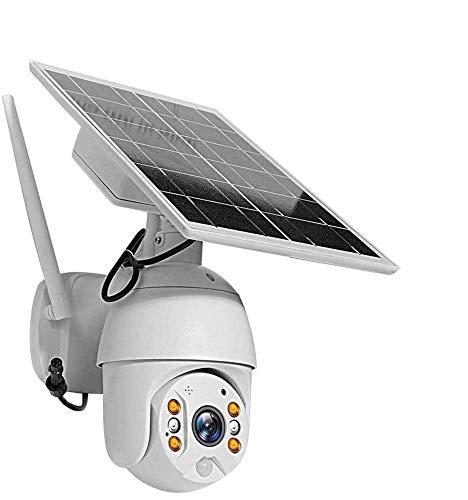 ZXCV Überwachungskameras Mit Solarpanel 2-Kanal-Audio 4X Digital Zoom Solar-Wireless-Karten-Slot Sicherheit PTZ-Kamera Mit PIR Bewegungs-Sensor-Alarm
