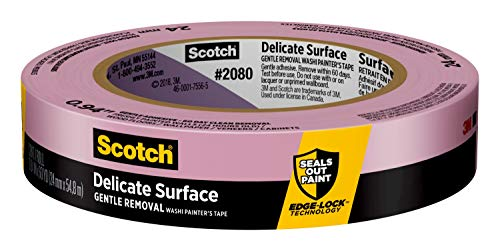 """Scotch Painter's Tape 2080EL-24E Scotch Delicate Surface Painter's Tape, 0.94"""" Width x 60 yd, Purple"""