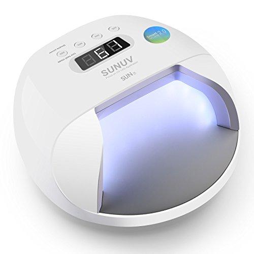 Lámpara Led Uñas SUNUV 48W UV Secador Smart 2.0 para Esmalte de Uñas de Gel Pro Salón Curado sin Dolor en Manicura/Pedicura SUN7
