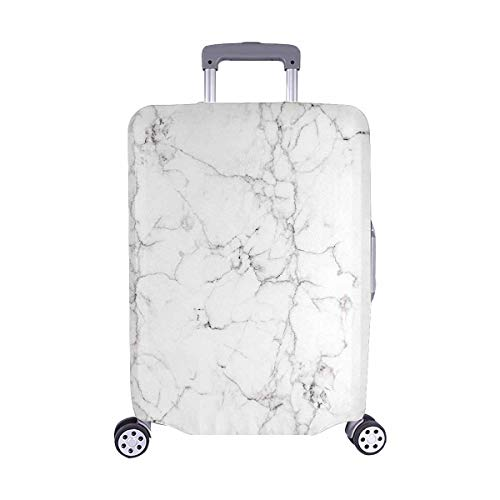 """InterestPrint Vintage Marble Stone Travel Luggage Cover Suitcase Baggage Protector Fits 22""""-25"""" Luggage"""