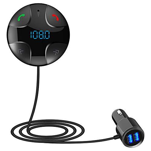 Winnes FM Transmitter Bluetooth Auto KFZ-Ladegerät Bluetooth Freisprecheinrichtung Transmitter FM-Kits Auto Lesen der Karte TF, FM Transmitter Bluetooth für Android etc