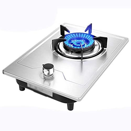 DYB Estufa de Camping, encimera de Gas Estufa de Gas de Escritorio, encimera de Gas/Estufa/Estufa incorporada, 1 Anillo de encimera portátil de Hierro Fundido, con Control de Temperatura y protección