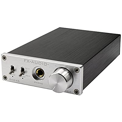 Nobsound HiFi Headphone Amplifier&DAC Audio Decoder Optical & Coaxial & USB IN_24BIT/192K Support OTG (Silver) by Nobsound