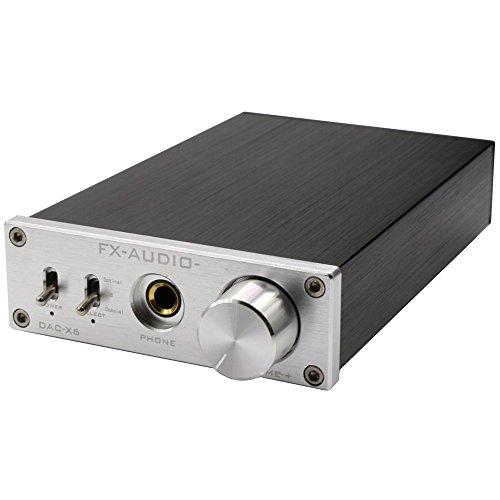 Nobsound Hi-Fi Kopfhörerverstärker Headphone Amplifier&USB DAC Audio Decoder Opt/Coax IN Unterstützung OTG (Silber)