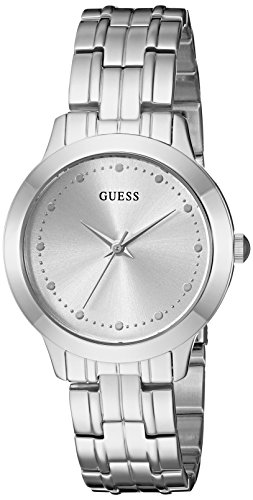 GUESS  Classic Slim Stainless Steel Bracelet Watch. Color: Silver-Tone (Model: U0989L1)