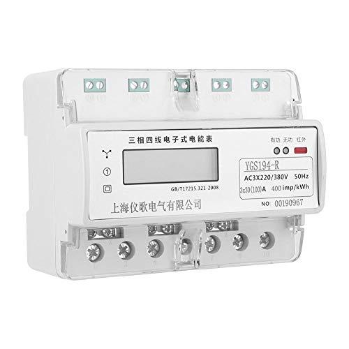 Oumefar Medidor de Potencia trifásico 220V Medidor de energía eléctrica Digital de...