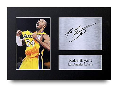 HWC Trading Kobe Bryant A4 Senza Cornice Firmato Regalo Visualizzazione delle Foto Print Immagine Autografo Stampato per Los Angeles Lakers Gli Appassionati di Cinema